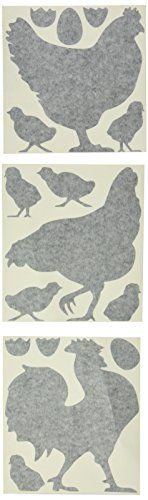 Molding Mates Chickens and Rooster 14 Molding Mates Home Decor Peel and Stick Vinyl Wall Decal Stickers