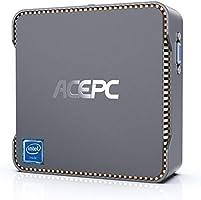ACEPC Mini PC,8GB DDR3 128GB eMMC,Intel Celeron N3350,Windows 10 Pro Mini Desktop Computer,Support 2.5'' SATA...