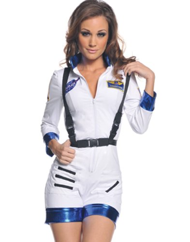 Underwraps Women's Rocket, White/Blue, X-Large - Out Of This World Themed Costume Ideas
