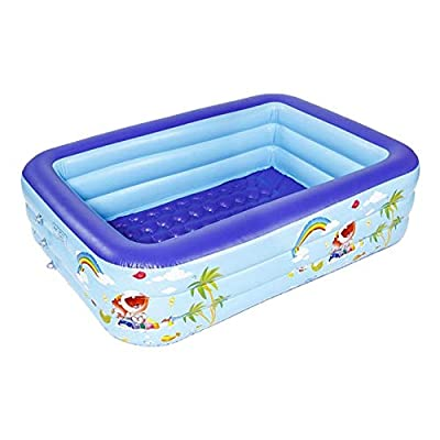 Family Inflatable Swimming Pool,Inflatable Pool Summer Water Party Supply for Baby Kids Adult: Home & Kitchen
