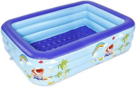 titracone Inflatable Swimming Pool, 3-Ring Rectangular Blow Up Pool for Toddlers, Family Kids Above Ground, Backyard, Outdoor 78.74×57.09×19.69inch