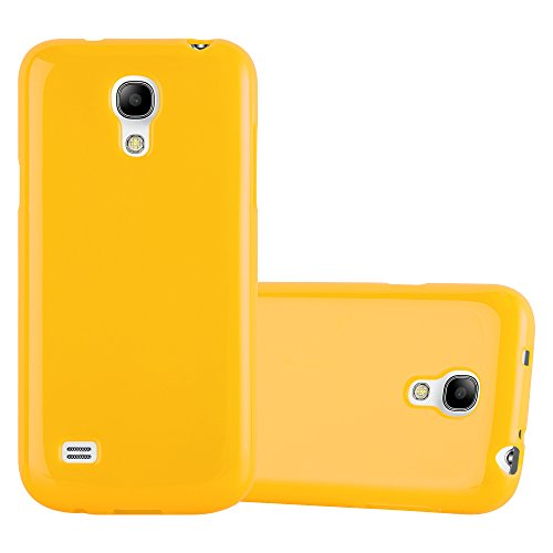 (Cadorabo Case works with Samsung Galaxy S4 MINI in JELLY YELLOW (Design JELLY) – Shockproof Scratch Resistant Gel Case Protective Shell Bumper Skin Back Cover)