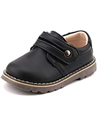 Toddler Boys Leather Loafers Comfort Uniform Oxford Dress Wedding Shoes