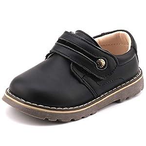 Femizee Toddler Boys Leather Loafers Comfort Uniform Oxford Dress Wedding Shoes