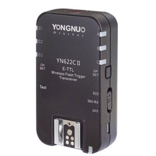 YONGNUO Updated YN622C II Single Transceiver HSS E-TTL Flash Trigger H-speed sync for Canon by Yongnuo