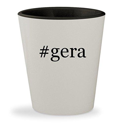 #gera - Hashtag White Outer & Black Inner Ceramic 1.5oz Shot Glass