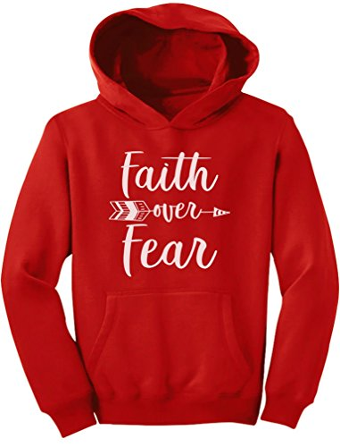 Tstars Faith Over Fear Christian Fashion Gifts Youth Hoodie Large ()