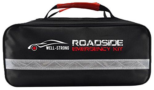 WELL STRONG Roadside Car First Aid Kit Auto Assistance With All Ultimate Supplies In One Pack