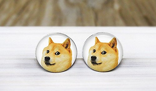 Doge Meme Earrings Handmade Hypoallergenic product image