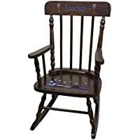 Personalized Espresso Train Rocking Chair