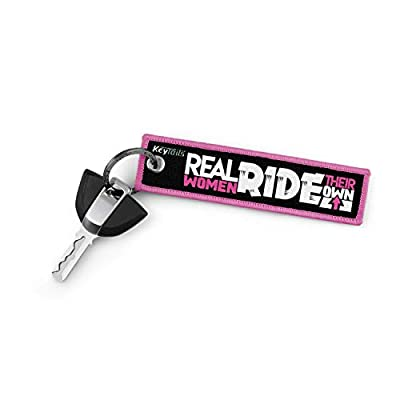 KEYTAILS Keychains, Premium Quality Key Tag for Motorcycle, Scooter, ATV, UTV [Real Women Ride Their Own]: Automotive