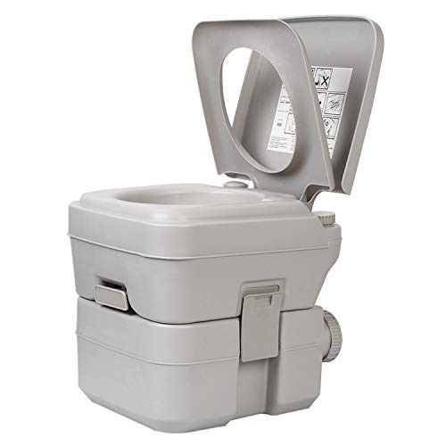 XIMENG Portable Toilet for Camping Traveling Outdoor Recreational Activities Portable Potty for RV Camper Van Trailer Motorhome Truck 5.2 Gallon ()