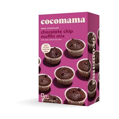 Cocomama Dark Chocolate Chip Muffin Mix - Vegan Chocolate Baking Mix, Dark Chocolate Chips, Organic Fair Trade Cocoa Powder, Vanilla Bean, Non-GMO, Kosher, 16.7 oz ()