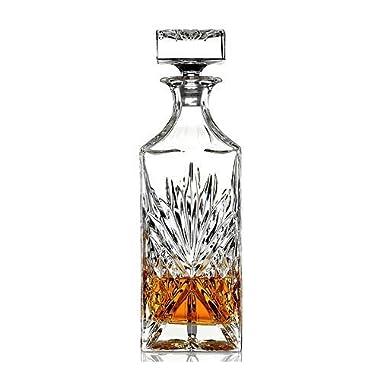 James Scott Lead Free Crystal Liquor Whiskey and Wine Decanter Irish Cut 1 Piece 750ml.