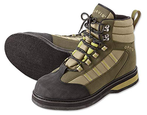 Orvis Encounter Wading Boots - Felt/Only Encounter Wading Boots, 14 Tan/Olive