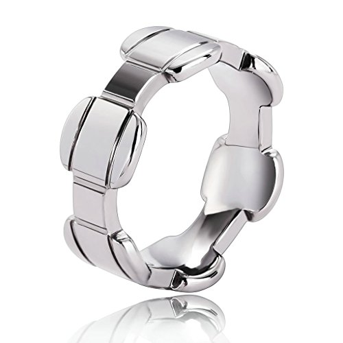 Assassin's Creed 3 Costume Replica (Epinki Tungsten Ring, Men's Wedding Bands Personalized Irregular Lines Silver Size 9)