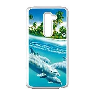 LG G2 Cell Phone Case White Dolphin V0W0W