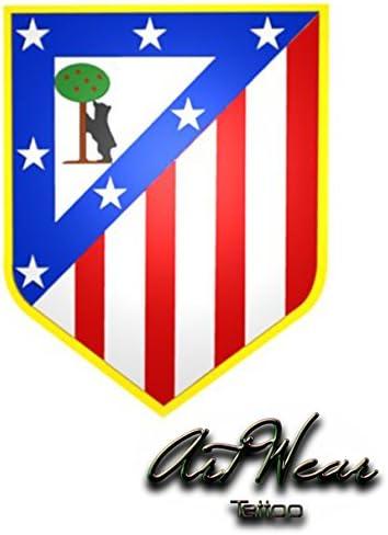 Tatuaje Temporal Equipe fútbol – España atlético de madrid – artwear Tattoo Fake Falso Temporary efímero: Amazon.es: Belleza