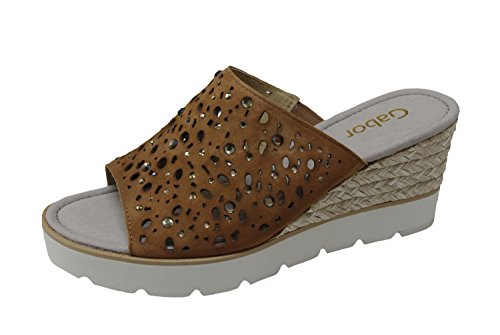 Gabor 65.760.18 - Sandalias de vestir de Piel para mujer ambra