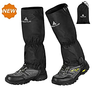 HIKENTURE-Hiking-Gaiters-with-Zipper-Waterproof-Ankle-Gaiters-for-Men-and-Women-Anti-Tear-Leg-Gaiters-with-Shoelace-Hook-Multi-Function-Snow-Boot-Gaiters-for-SnowshoeingHikingHuntingRunning-1