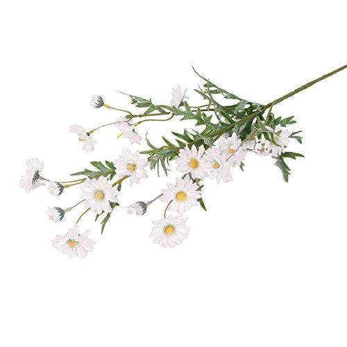 Alinementpai - 1 Pieza de Flores Artificiales pequeñas de Margarita para decoración del hogar, jardín, Boda, Fiesta,...