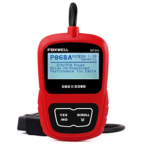 Foxwell OBD-II Upgradable Car Reader Automotive Scan Tool for Check Engine light, Nt200 Error Codes Reader, Erase Fault Code and Retrieves Vehicle Information Obd2 Scanner