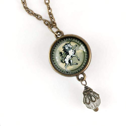 - Renaissance Unicorn pendant necklace