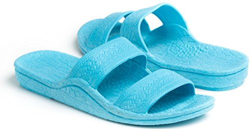 Pali Hawaii Unisex Adult Color Jandal Sandal (Aqua, 12)