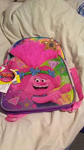 Trolls Poppy Lighted Gold Star Collection Backpack with Reflective Inserts