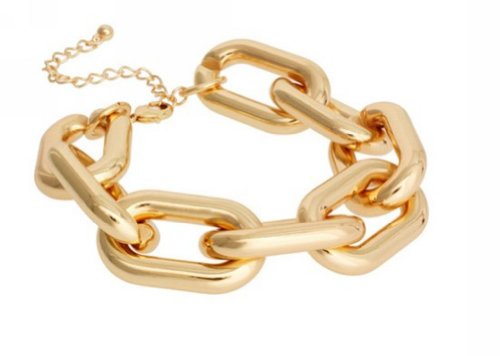 Wiipu New Fashion European Style Chunky Gold Plated Alloy Link Chain Bracelet(C2229)