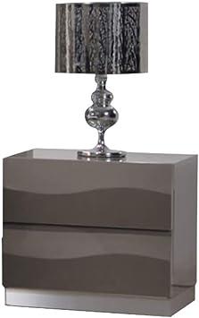 Milan Salem Grey 2-Drawer Nightstand