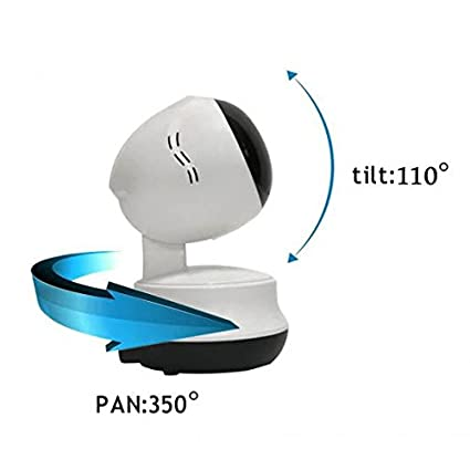 Cámara Ip de Vigilancia Wireless,Pan Tilt Rotación 350º,visión de ángulo grande,