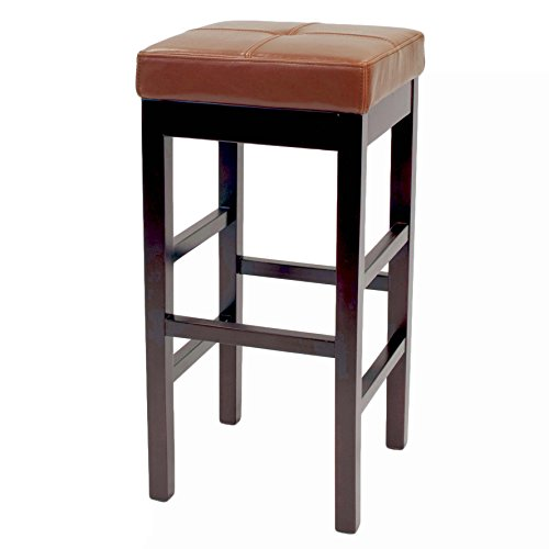 New Pacific Direct 108631-33 Valencia Backless Bicast Leather Bar Bar & Counter Stools, Cognac ()