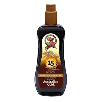 Australian Gold SPF 15 Spray Gel Sunscreen with Instant Bronzer reviews