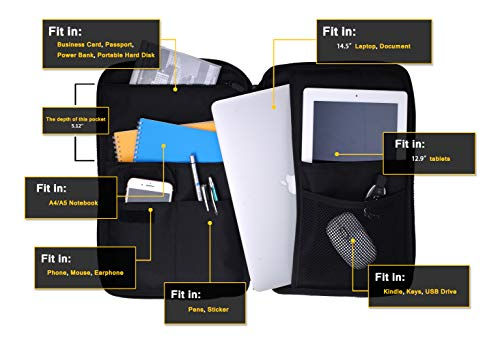 Extra-Large Zipper Portfolio, Business Laptop Sleeves Organizer,All in one Bag for 15