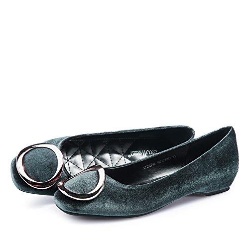 Scarpe Scarpe Scamosciate Ladies Primaverile B Piatte Scarpe XEIq5