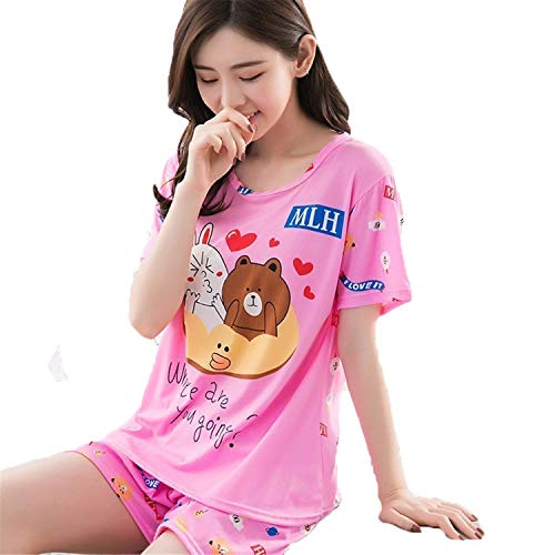 Factory Wholesale Summer Women Pajamas Set Send Goggles Short Sleeve...