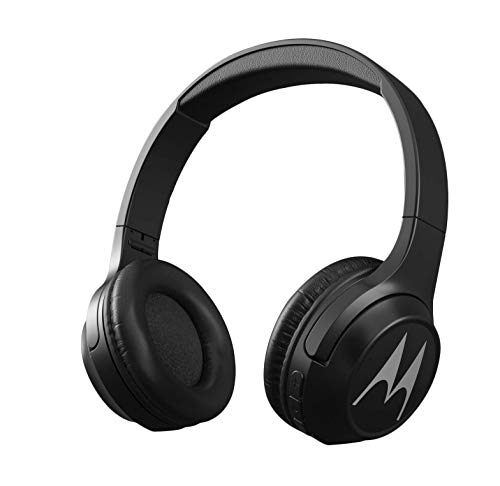 Motorola Escape 210 Over-Ear Bluetooth Headphones with Alexa (Black)