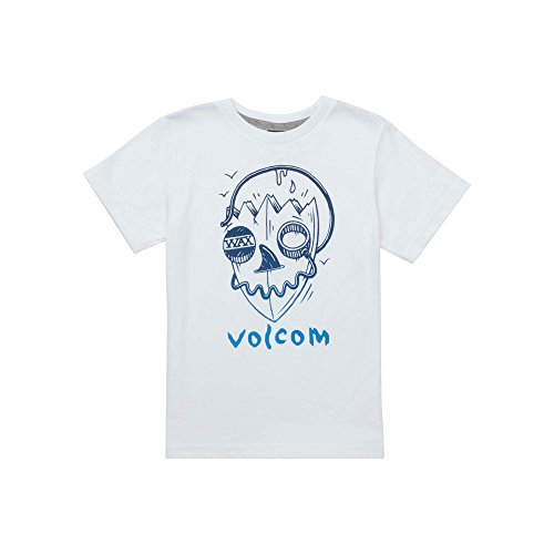 Volcom Surf Skull Short Sleeve Tee Little Boys, White, ()
