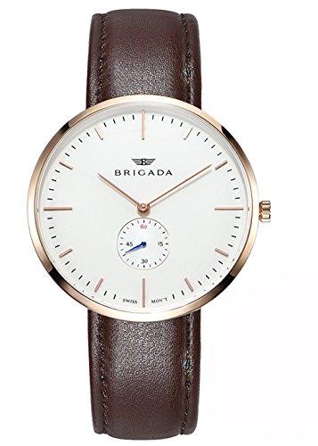 Swiss Brand Nice Fashion Men's Dress Watch Waterproof, Rose Gold Case Swiss Movement Business Casual Men's Wrist Watch (Best Swiss Made Watches Under 2000)