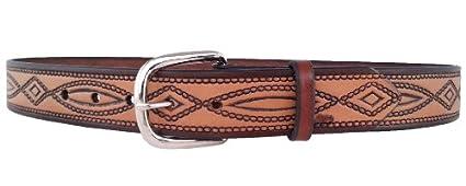 Mens 670 belt full-grain Bridle Leather Santa Fe Leather Co