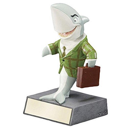 Decade Awards Sales Shark Bobblehead Trophy - Corporate Deal Maker Award - 5.5 Inch Tall - Customize Now