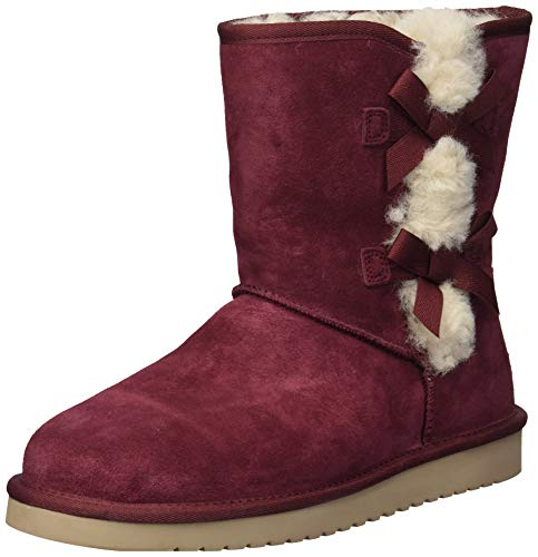 Koolaburra by UGG Women's W Victoria Short Fashion Boot, Zinfandel, 10 Medium US (Ugg Short Sale)