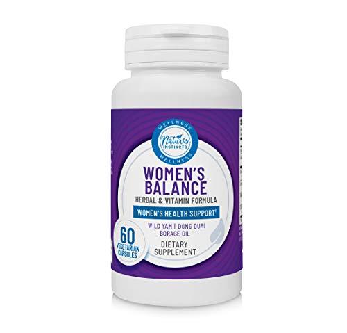 Nature's Instincts Women's Balance Herbal & Vitamin Formula for Hormonal Health† | Women's Health Supplement - Vegan & Gluten Free, 60 Count