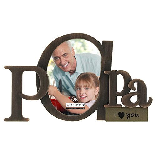 Malden International Designs Bronze Script Papa Picture Frame, 3.5x4.5, Bronze