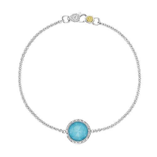 Tacori SB16605 Island Rains Sterling Silver Quartz over Synthetic Turquoise Bracelet, 8