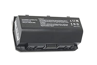 SOLICE New Replacement Asus A42-G750 Laptop Battery for Asus G750 G750J G750JW G750JX G750JZ G750JH G750JM G750JS G750Y47JX-BL Series Laptop netbook [15V 5900mAh/88Wh] by Solice