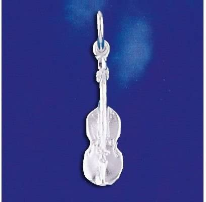 925 Sterling Silver Antiqued Violin Charm