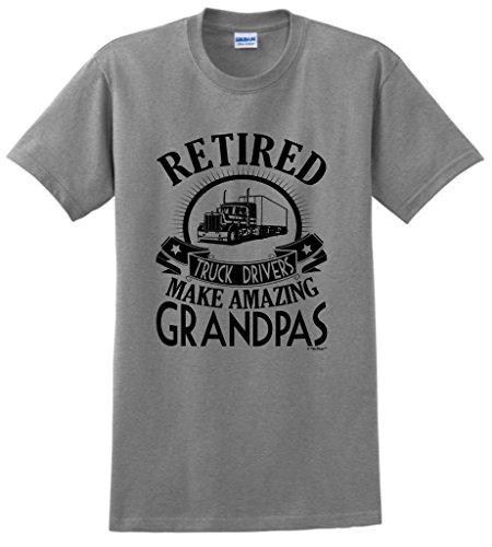 Retirement Grandpa Gift Retired Truck Driver T-Shirt XL ()