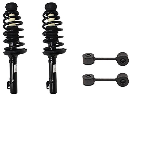 Detroit Axle - New 4pc Left & Right Complete Front Quick Strut & Coil Spring Set & Sway Bar End Links (Jetta Sway Bar)